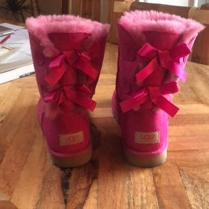 Ugg pink lace up boots